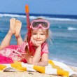 Child playing on beach. — Stock Photo #5187585