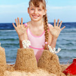 Child playing on beach. — Stock Photo #5187598