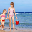 Children playing on beach. — Stock Photo #5187602