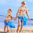 Children playing on beach. — Stock Photo #5187728