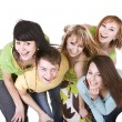 Group of happy young — Stock Photo #5187912