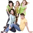 Happy group of young — Stock Photo #5187917