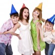 Royalty-Free Stock Photo: Group of young celebrate birthday.