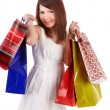 Shopping girl with group bag. — Stock Photo #5188014