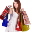 Shopping girl with group bag. — Stock Photo #5188016