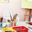 Colorful pencil in art class. — Stock Photo #5188226