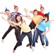 Group of teenager in party hat. — Stock Photo #5188555
