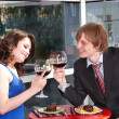 Couple on date in restaurant. — 图库照片 #5188618