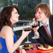Couple on date in restaurant. — Zdjęcie stockowe #5188623