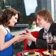 Man propose marriage to girl. — Стоковое фото #5188629