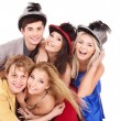 Group young on party. — Stock Photo
