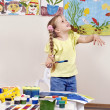 Child painting in preschool. — Stock Photo #5189300