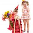 Children in party hat. — Stock Photo #5189599