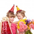Children in party hat. — Stock Photo #5189602