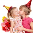 Stock Photo: Children in party hat.