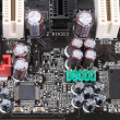 Close-up mother board. - 图库照片