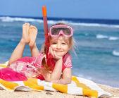 Child playing on beach. — Stock Photo