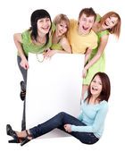 Group of on white. — Stock Photo