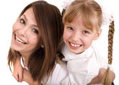 Happy family mother and daughter. — Stock Photo