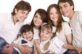 Happy family upbringing children. — Stock Photo