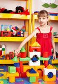 Set di blocco e costruzione gioco bambino. — Foto Stock