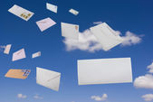 Letters in the sky — Stock Photo