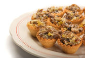 Mini mushroom tartlets — Stock Photo