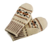 Woolen mittens — Stock Photo