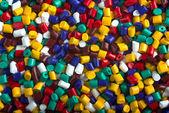 Granuli di plastica — Foto Stock