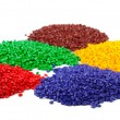 Foto Stock: Colourful plastic granules
