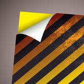 Wallpaper paper curl stripe — Stock Vector
