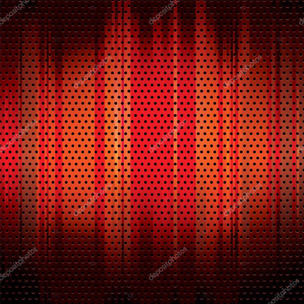 红色的金属网格背景