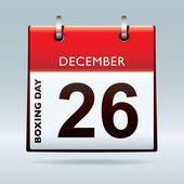 Christmas day calendar blue — Stock Vector