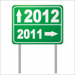 Stock Vector: Road sign 2012