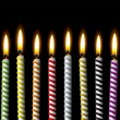 Постер, плакат: Birthday candle stripe party