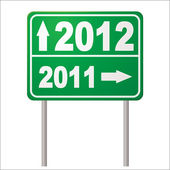 Road sign 2012 — Stock Vector