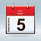 Cinco De Mayo calendar icon — Stock Vector