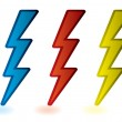Lightning bolts - Stock Vector