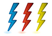 Lightning bolts — Stock Vector