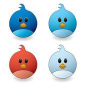 Twit bird — Stock Vector