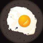 Huevo frito — Vector de stock