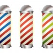 Collection barbers pole — Vektorgrafik