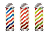 Collection barbers pole — Stock Vector