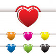 Royalty-Free Stock Photo: Heart book mark