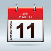 Calendar icon japan earthquake — Stock Photo