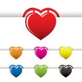 Heart book mark — Foto de Stock