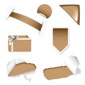 Shop sale elements brown — Stock Vector