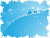Winter landscape — Vetorial Stock
