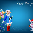 Winter background _Happy New year — Stock Vector
