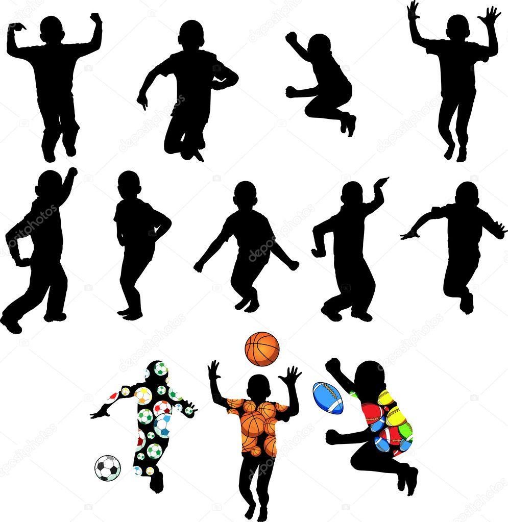 картинки дети в движении: